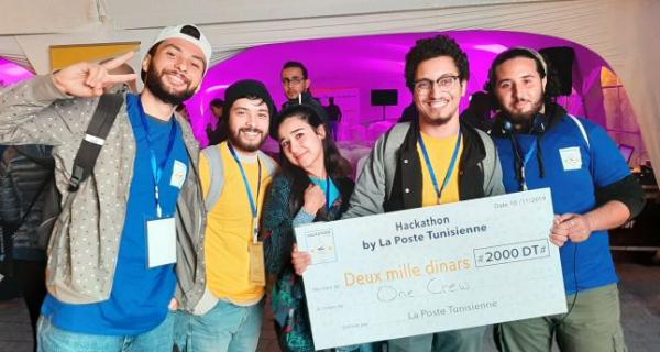 Etudiants de l'ISTIC vainqueurs de la troisième édition du Hackathon de la poste